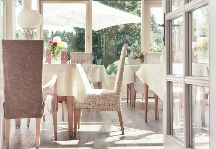 restaurant wintergarten schlossgut oberambach bio hotel starnberg